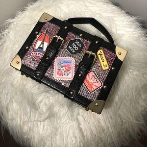 Mini glitter square bag w/ patches